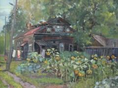 Старый дом в Уржуме <br/> х/м 50х60см <br/> 2012г.